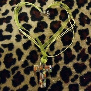 Jewelry - Green Cross necklace